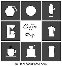 コーヒー セット, 白, 項目, カップ