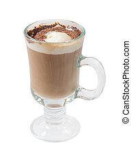 コーヒー, チョコレート, .isolated, カクテル, カップ