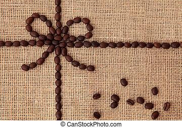 コーヒー, デザイン, 豆