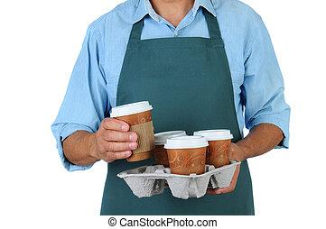 コーヒー, トレー, barista