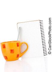コーヒー, ノート, カップ