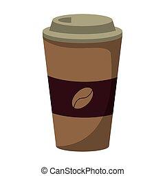 コーヒー, ペーパー, 暑い, カップ