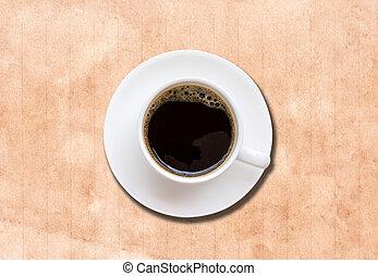 コーヒー, ペーパー, 白, 手ざわり, カップ