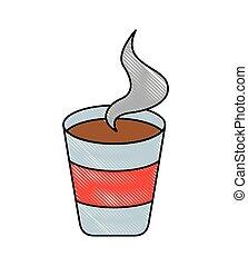コーヒー, ポータブル, カップ, 暑い, ペーパー, 新たに