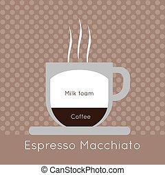 コーヒー, マイル, 蒸気, カップ