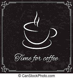 コーヒー, メニュー, デザイン