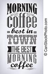 コーヒー, レトロ, 型, セット