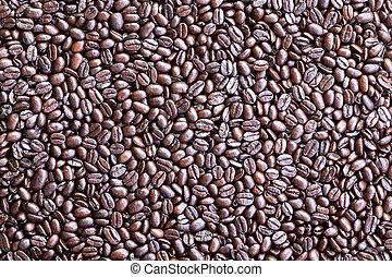 コーヒー, 作られた, 豆, 背景, 間接費光景