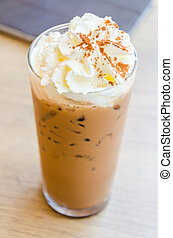 コーヒー, 凍らされる, mocha