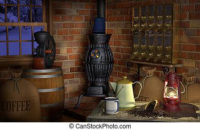 コーヒー, 工場