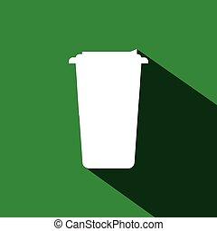コーヒー, 帽子, 白いコップ