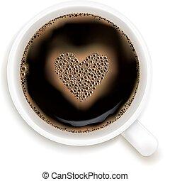 コーヒー, 愛, 予測, カップ