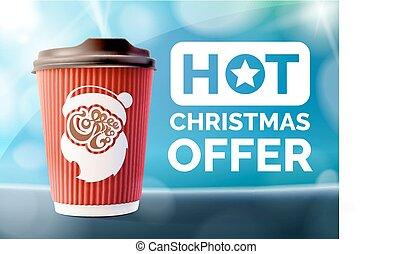 コーヒー, 旗, クリスマス