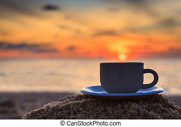 コーヒー, 日没, カップ