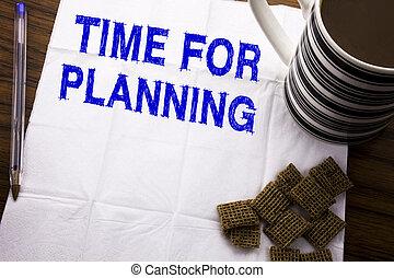 コーヒー, 概念, 背景, ビジネス, レストラン, 木製である, テキスト, 提示, ペン, ペーパー, 執筆, プロジェクト, キャプション, 書かれた, 組織, 計画, planning., 時間, 組織しなさい, 手, 健康