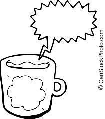 コーヒー, 漫画, カップ