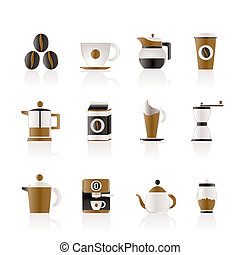 コーヒー, 産業, サイン, そして, アイコン