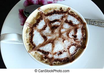 コーヒー, 芸術, /, latte