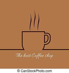 コーヒー, 蒸気, カップ