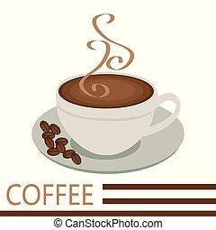 コーヒー, 蒸気, 朝
