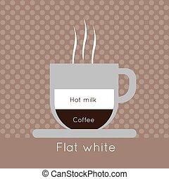 コーヒー, 蒸気, ho, カップ
