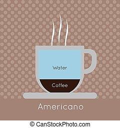コーヒー, 蒸気, wa, カップ