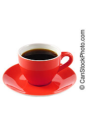 コーヒー, 赤いコップ