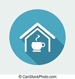 コーヒー, 隔離された, イラスト, 単一, ベクトル, アイコン