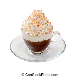 コーヒー, 隔離された, カクテル, カップ