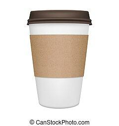 コーヒー, 隔離された, カップ