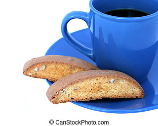 コーヒー, 2, biscotti, &