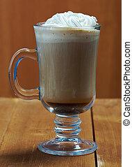 コーヒー, cappuchino, カップ