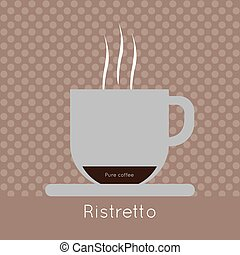 コーヒー, co, 蒸気, 純粋, カップ