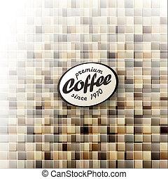 コーヒー, eps10, themed, 抽象的なデザイン, ベクトル, template.