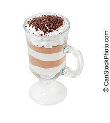 コーヒー, .isolated, カクテル, chokolate