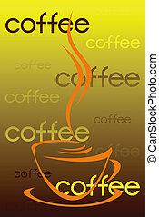 コーヒー, label.