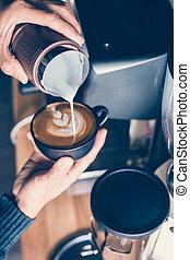 コーヒー, latte