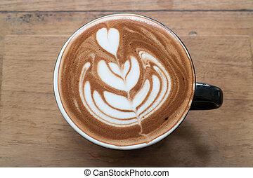 コーヒー, latte, 芸術, 暑い, カップ
