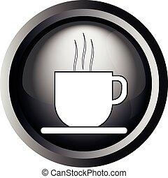 コーヒー, stea, カード, カップ