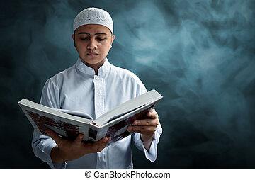 コーラン, muslim, 読書, 人