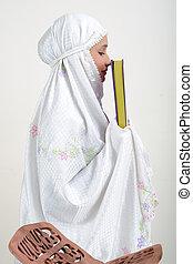 コーラン, muslim, 読書, 女性