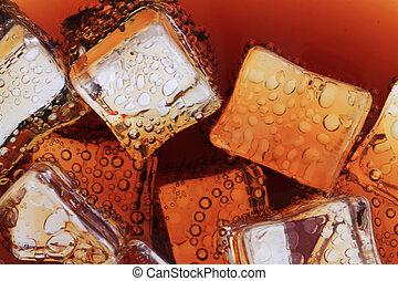 コーラ, 立方体, 手ざわり, 飲みなさい, 氷
