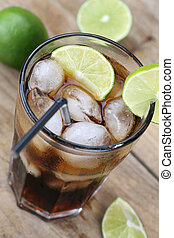 コーラ, 立方体, 氷, 飲みなさい, ソーダ