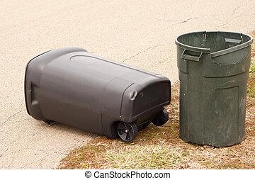 ゴミ箱, 中に, 道