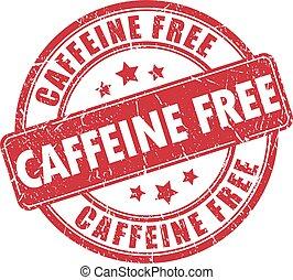 ゴム製 スタンプ, カフェイン, 無料で
