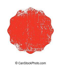 ゴム製 スタンプ, グランジ, 赤