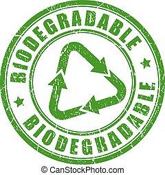 ゴム製 スタンプ, biodegradable, 緑