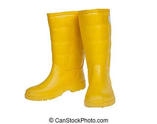 ゴム製 ブーツ, 黄色, 色
