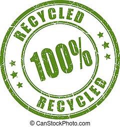 ゴム, リサイクルされる, 100, 切手
