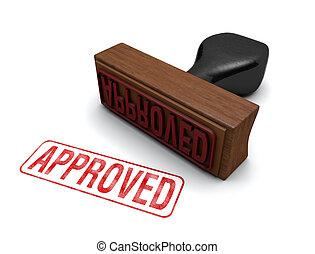 """ゴム, """"approved"""", 切手"""